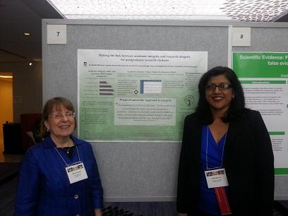 Dr Saadia Mahmud with 3WCRI Convenor Prof Melissa Anderson