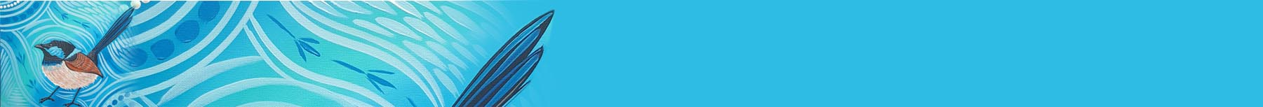 Blue Wren Banner