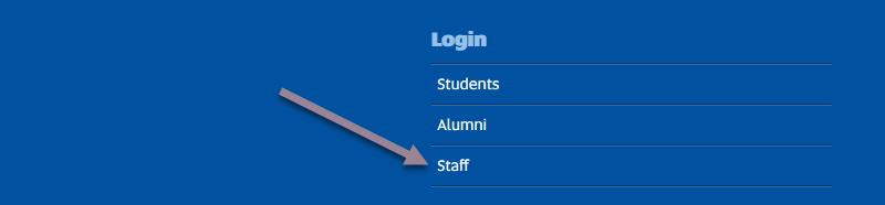 Accessing your course - staff login