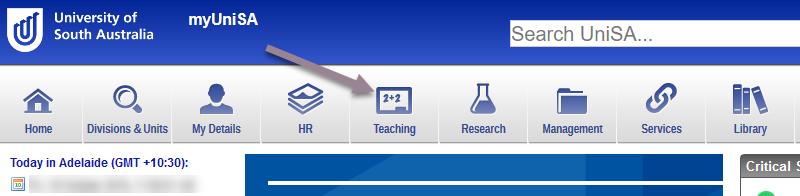 Accessing teaching dashboard