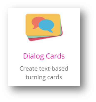 Dialog card