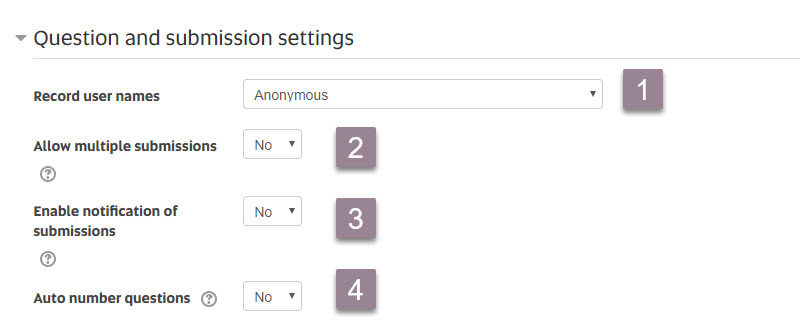 feedback_question and submission settings
