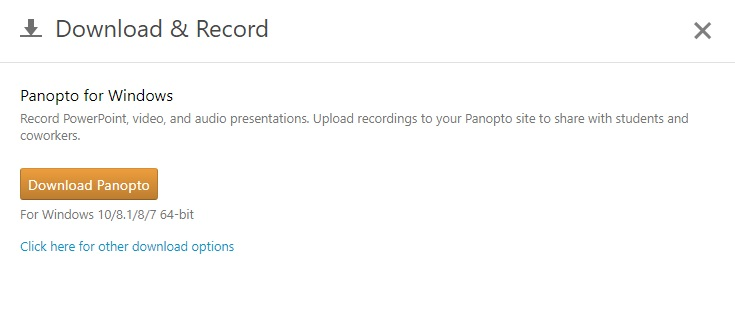 Panopto Download