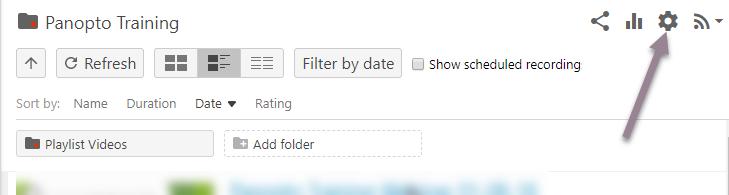panopto_folder settings