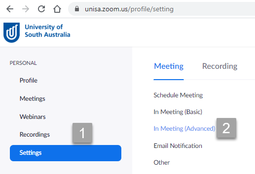 Locate in meeting advanced screenshot