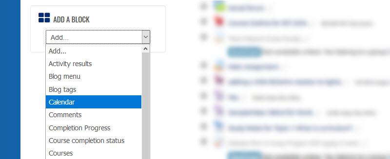 Adding a block_calendar example