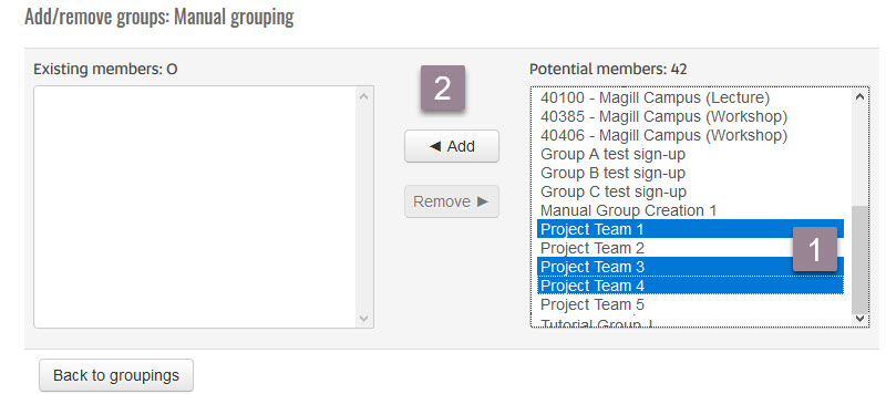 add groups to grouping