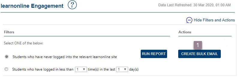 Click Create Bulk Email