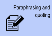 Paraphrasing and quoting