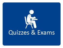For help with quizzes and exams click here