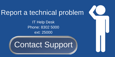 Contact IT Support to report technical issues